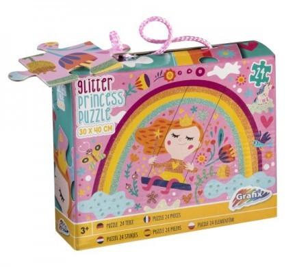 3D Glitter puzzle - Princess