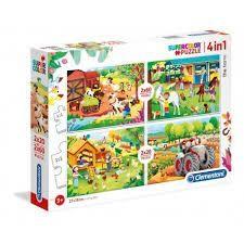Puzzle - A farm (4 in 1)