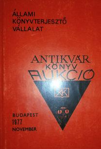 Antikvár könyv aukció